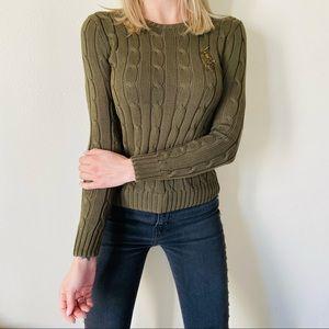 POLO RALPH LAUREN Twist Pima Crew Neck Sweater